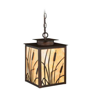 Bulrush Burnished Bronze One-Light Outdoor Pendant