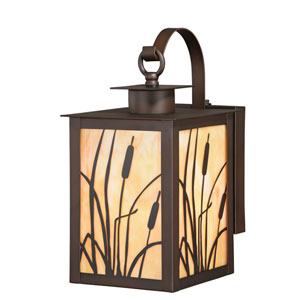 Bulrush Burnished Seven-Inch Bronze One-Light Outdoor Wall Sconce
