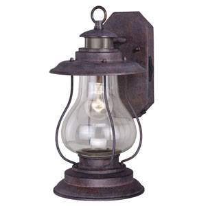 Dockside Weathered Patina One-Light Outdoor Motion Sensor Wall Sconce