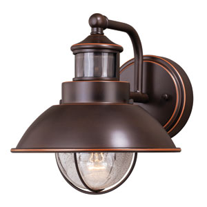 Harwich Dualux Burnished Bronze 8-Inch One-Light Outdoor Wall Light