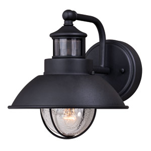 Harwich Dualux Textured Black 8-Inch One-Light Outdoor Wall Light