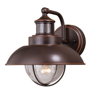 Harwich Dualux Burnished Bronze 10-Inch One-Light Outdoor Wall Light