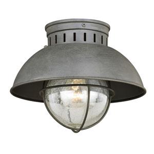 Harwich Textured Gray One-Light Outdoor Flush Mount