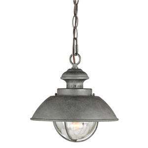 Harwich Textured Gray One-Light Outdoor Pendant