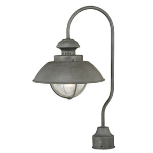 Harwich Textured Gray One-Light Outdoor Post Light