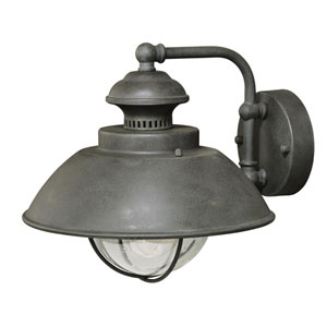 Harwich Textured Gray One-Light 10-Inch Outdoor Wall Light