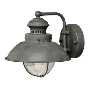 Harwich Textured Gray One-Light 8-Inch Outdoor Wall Light