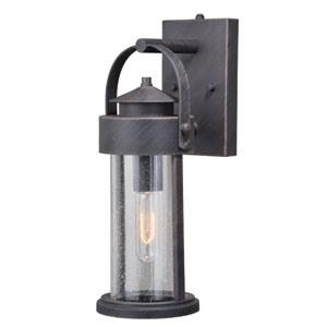 Cumberland Rust Iron 6-Inch One-Light Outdoor Wall Light