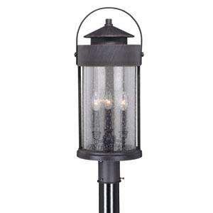 Cumberland Rust Iron 10-Inch Three-Light Outdoor Post Light