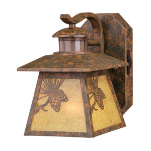 Whitebark Dualux Olde World Patina 7-Inch One-Light Outdoor Wall Light