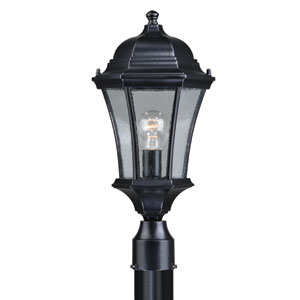 Aberdeen Shiny Black 10-Inch One-Light Outdoor Post Light