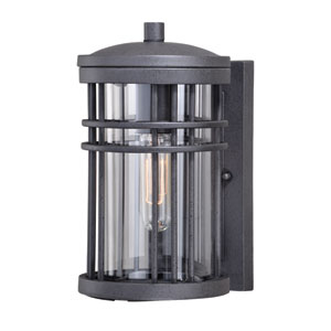 Wrightwood Vintage Black 10-Inch One-Light Outdoor Wall Light