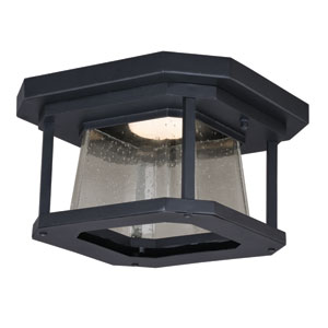 Freeport Textured Black 12-Inch LED Outdoor Flush Mount