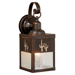 Calexico Burnished Bronze 5-Inch One-Light Outdoor Wall Light