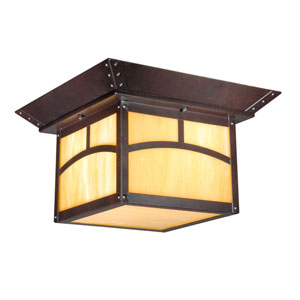 Taliesin Espresso Bronze Two-Light 11-Inch Outdoor Ceiling Light