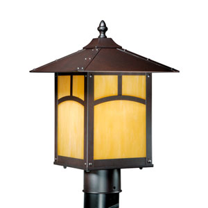 Taliesin Espresso Bronze 9-Inch Outdoor Post Light