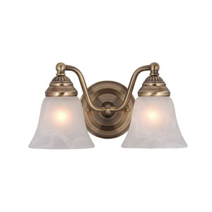 Standford Antique Brass Two-Light Vanity