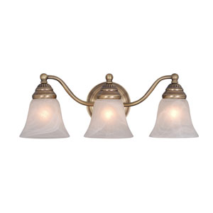 Standford Antique Brass Three-Light Vanity