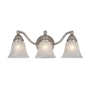 Standford Brushed Nickel Three-Light Vanity