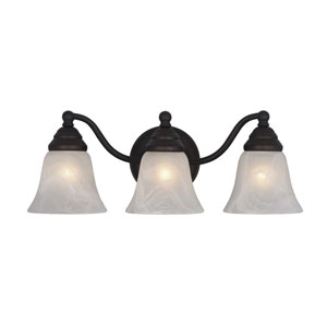 Standford Oil Burnished Bronze Three-Light Vanity