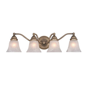 Standford Antique Brass Four-Light Vanity