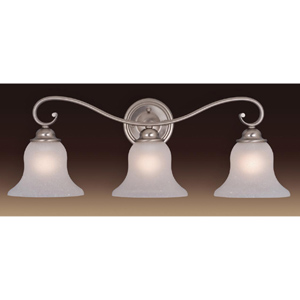 Monrovia Nickel Three-Light Bath Fixture