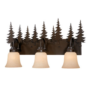 Yosemite Burnished Bronze Three-Light Vanity