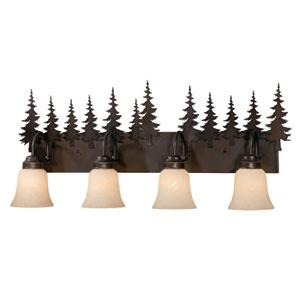 Yosemite Burnished Bronze Four-Light Vanity