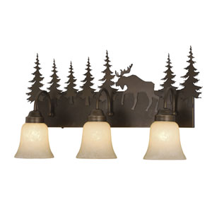 Yellowstone Burnished Bronze Three-Light Vanity
