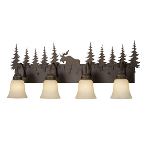 Yellowstone Burnished Bronze Four-Light Vanity