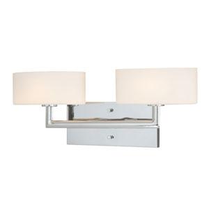 Allerton Two-Light Chrome Wall Vanity Light