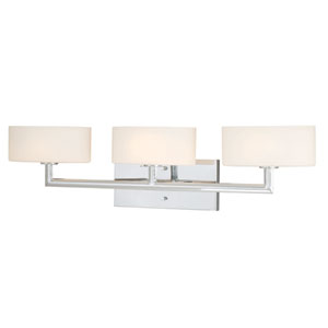 Allerton Three-Light Chrome Wall Vanity Light