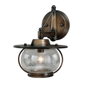 Jamestown One- Light Parisian Bronze Outdoor Wall Mounted Fixture
