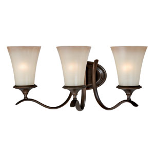 Sonora Three-Light Venetian Bronze Wall Vanity Light