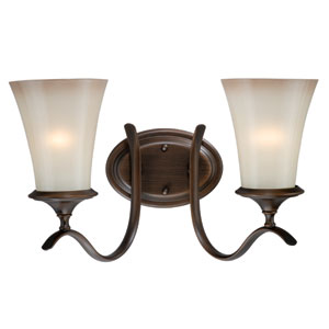 Sonora Two-Light Venetian Bronze Wall Vanity Light