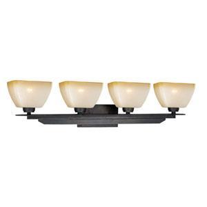 Descartes II Architectural Bronze Four-Light Vanity Fixture