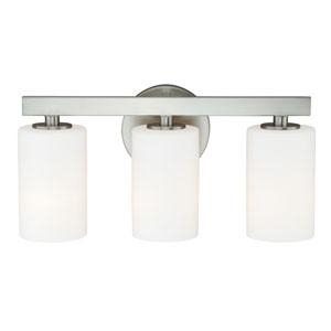 Glendale Satin Nickel Three-Light Vanity