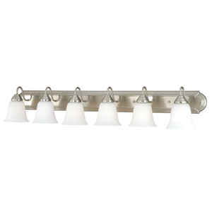 708 Series Satin Nickel Six-Light Vanity Fixture