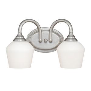 Grafton Satin Nickel Two-Light Vanity Fixture