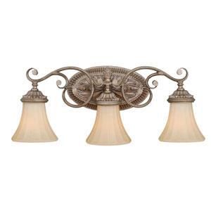 Avenant French Bronze Three-Light Vanity Fixture
