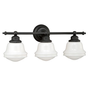 Huntley Oil Rubbed Bronze Three-Light Vanity Fixture