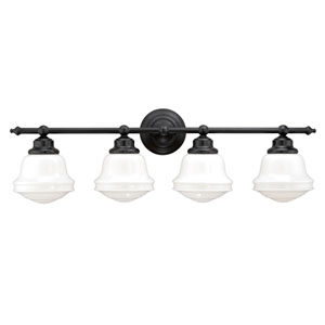 Huntley Oil Rubbed Bronze Four-Light Vanity Fixture