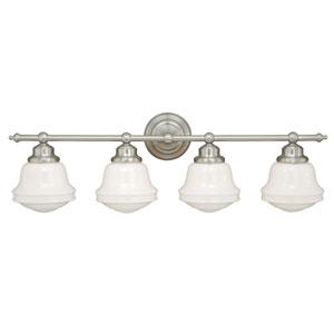 Huntley Satin Nickel Four-Light Vanity Fixture