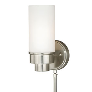 Tube Satin Nickel One-Light Sensor Wall Sconce