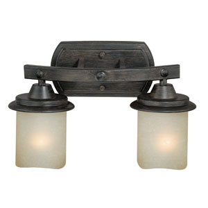 Halifax Black Walnut Two-Light Bath Fixture