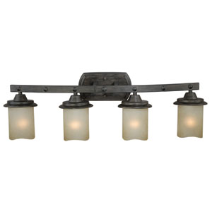 Halifax Black Walnut Four-Light Bath Fixture