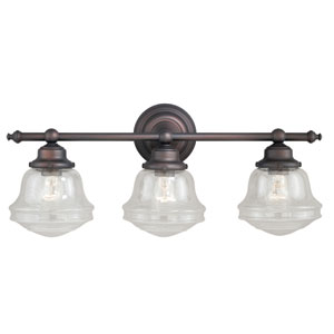 Huntley Oil Rubbed Bronze Three-Light Bath Fixture