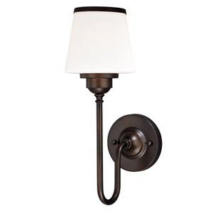 Kelsy Noble Bronze One-Light Bath Fixture