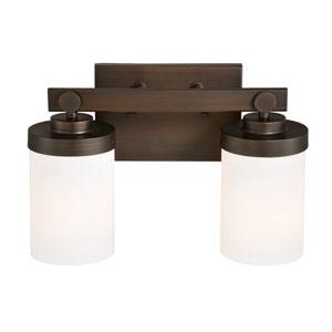 Sorin Architectural Bronze Two-Light Bath Fixture