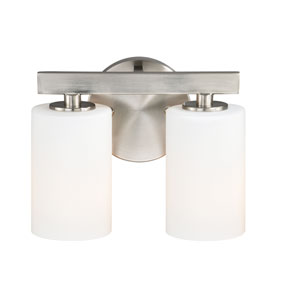 Glendale Satin Nickel Two-Light Bath Fixture